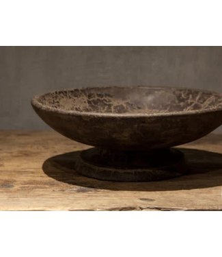 *Bowl - grey finish - medium - 30 x 30 x 10 cm
