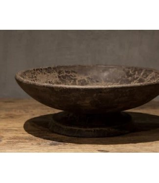 *Bowl / grey finish / small - 25 x 25 x 10 cm