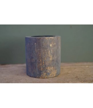 *I347 - Tory t-light pillar - wood - gold - 8 x 8 cm