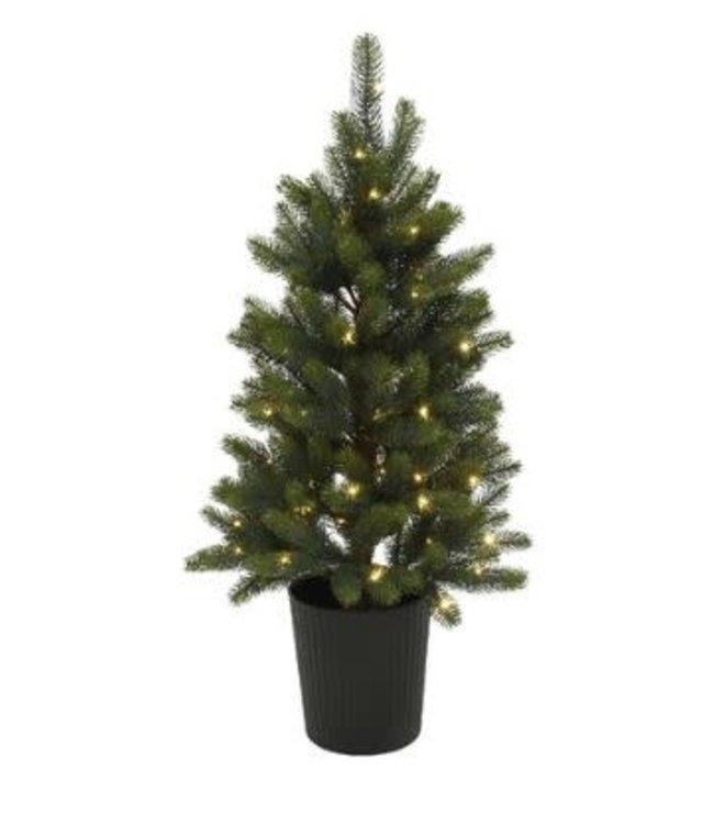 Winnipeg tree pot buiten - 90cm - 60lamp - groen - warm wit