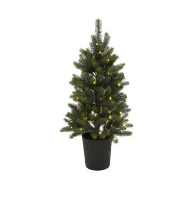 Winnipeg tree pot buiten bo - 120 cm - 80lamp - groen - warm wit