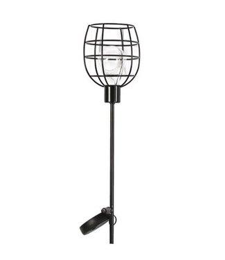*J315 - solarlamp tuinsteker ilja zwart - 11,50 x 90 cm