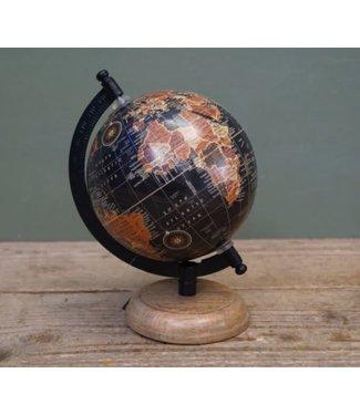 *R757 - Globe - wereldbol - 12,5 x 14 x 22 cm