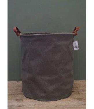 *J356 - Plantenzak - wasmand- L - groen - 35 x 35 x 40 cm