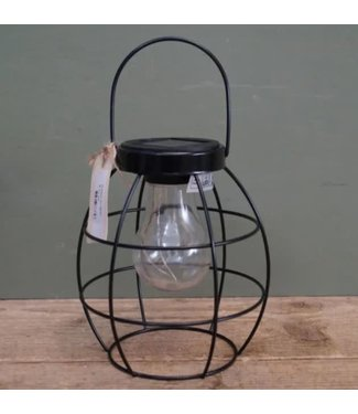 *J691 - Lantaarn - lamp - LED - solar 13 x 13 x 24 cm