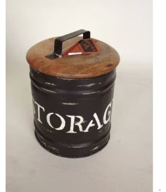 *R770 - Storagebox Large- metaal - 25 x 32 cm