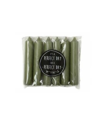 *B064 - Pakje met 6 kaarsjes van 2,1 x 12 cm - Thijm