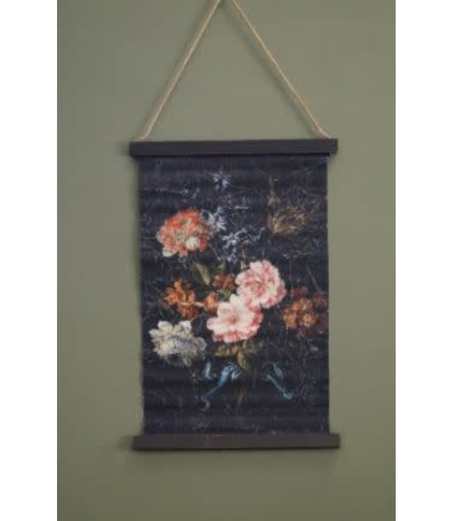 *B338 - Wandkleed - bloemen - 42 x 63 x 2 cm