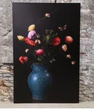 *A563 - wandpaneel - kunststof - bloemen in vaas - 80 x 120 cm - wordt niet verzonden/alleen afhalen