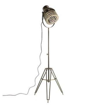 *Staande lamp E27 Misha S grijs - L50B43H108CM