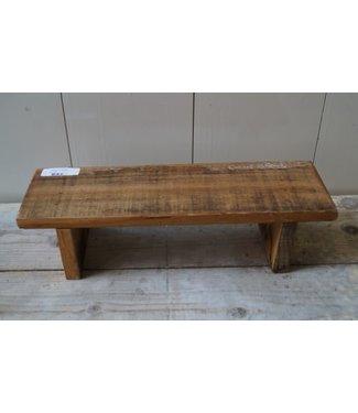 *A594 - Krukje - bankje - hout - 38 x 12 x 11 cm