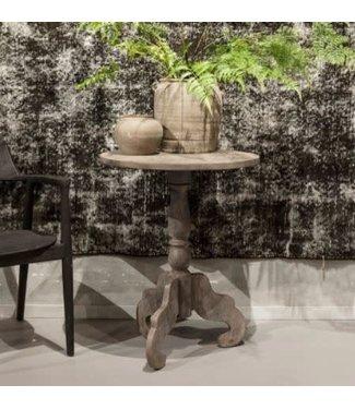 # wijntafel - hout - cement finish - 60 x 60 x 76 cm