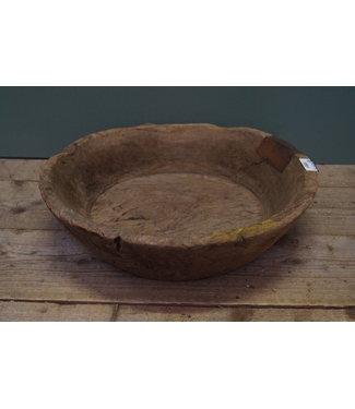 Ronde houten schaal - 3 - 49 x 50 x 12 cm