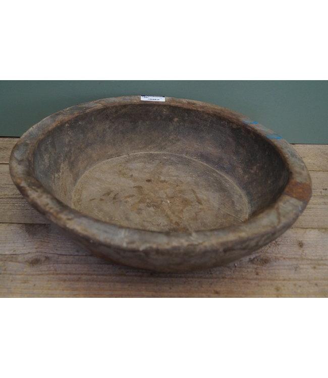 Ronde houten schaal - 5 - 49 x 48 x 13 cm