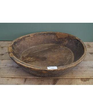 Ronde houten schaal - 8 - 55 x 55 x 13 cm