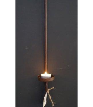 *Q791 - Glashaak - luikhanger - waxine - metaal - bruin - 8x7x50 cm