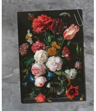 *E880 - Ansichtkaart - vaas met bloemen