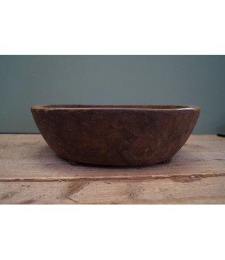 Ronde houten schaal - 12 - 40 x 11 cm