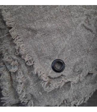 *doek shabby gerafeld met zeiloog - ca. 50 x 50 cm