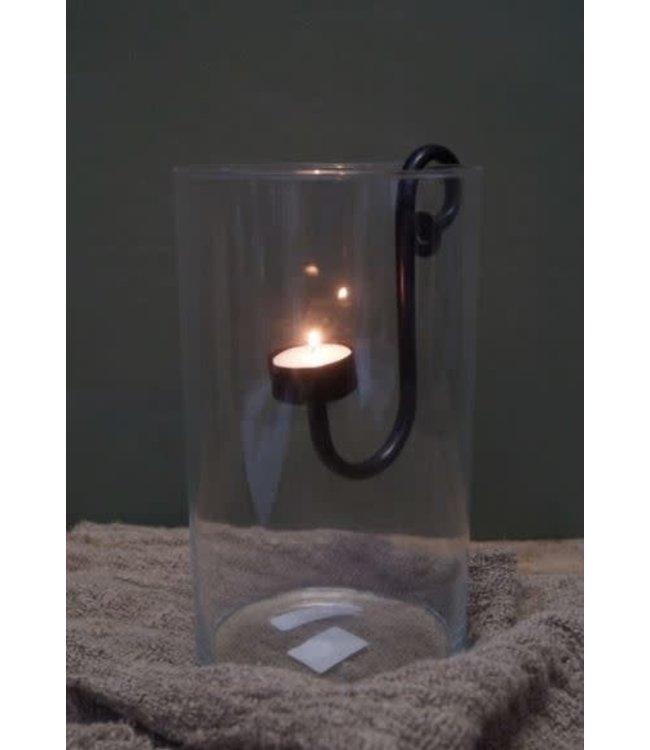 # Q571- Hangkandelaar waxine - licht metaal - 5 x 10 x 16,5 cm