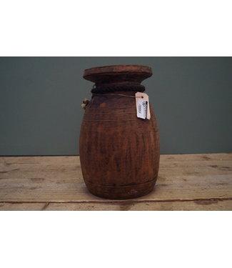 Nepalese houten pot - 11 - 20 x 32 cm