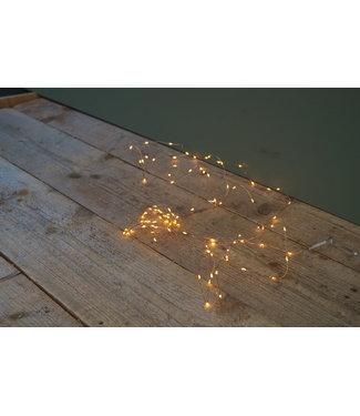 *Micro LED Durawise twin. buiten - 495cm - 100lamps - koper - klassiek warm - werkt op batterij