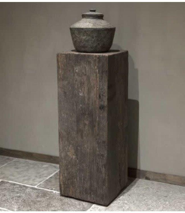 # Houten zuil - Geneve - medium - 35 x 35 x 100 cm - (excl. pot) - wordt niet verzonden/alleen afhalen