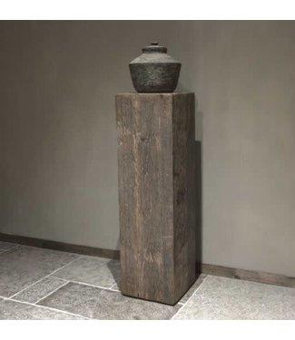 # Houten zuil Geneve - Large - 35 x 35 x 120 cm (excl. pot) - wordt niet verzonden/alleen afhalen