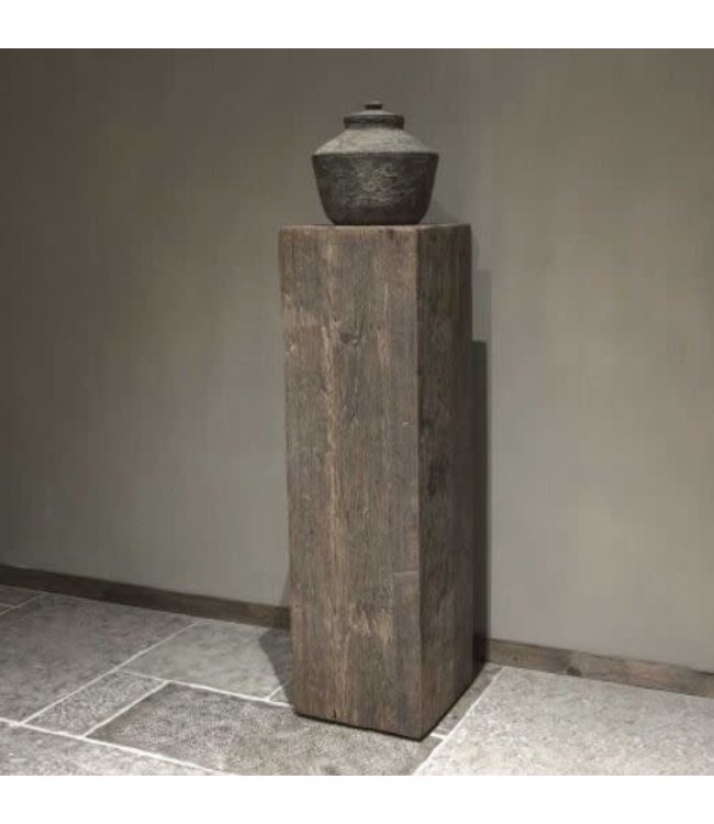 # Houten zuil Geneve - Large - 35 x 35 x 120 cm (excl. pot)