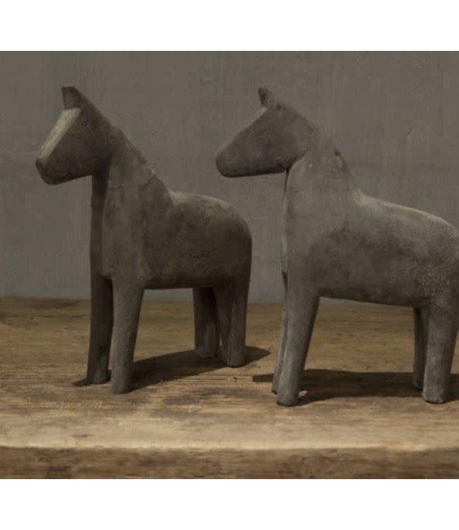 *B665 - paard grey wash - 20 x 6 x 25 cm - per stuk
