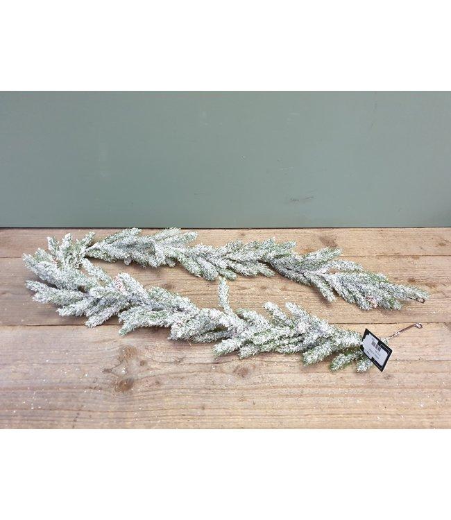 *Q558 - Guirlande - kunst - sneeuw - 150 cm