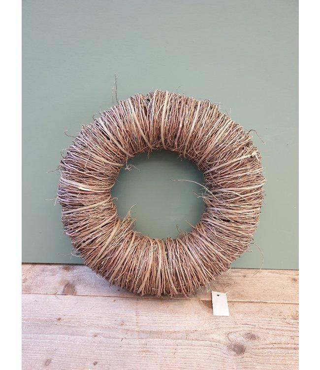 *W675 - twig wreath 45 x 10 cm natural