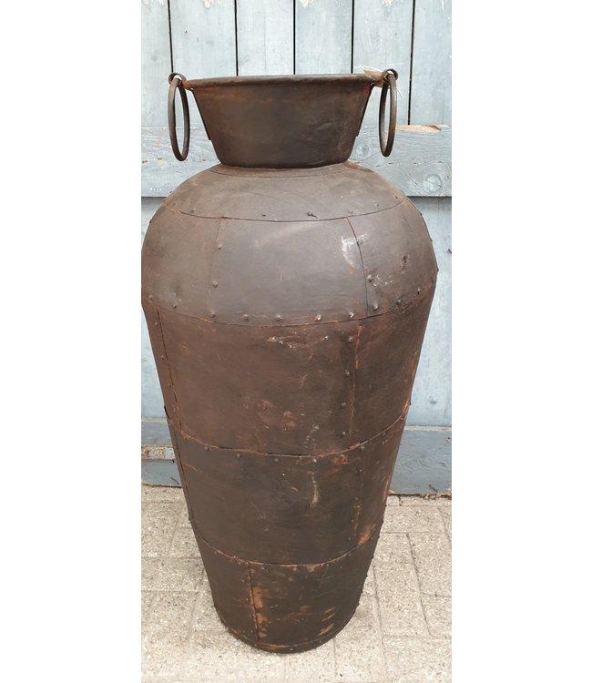 *Metalen vaas - L - 1 - 50 x 50 x 120 cm - alleen afhalen/wordt niet verzonden
