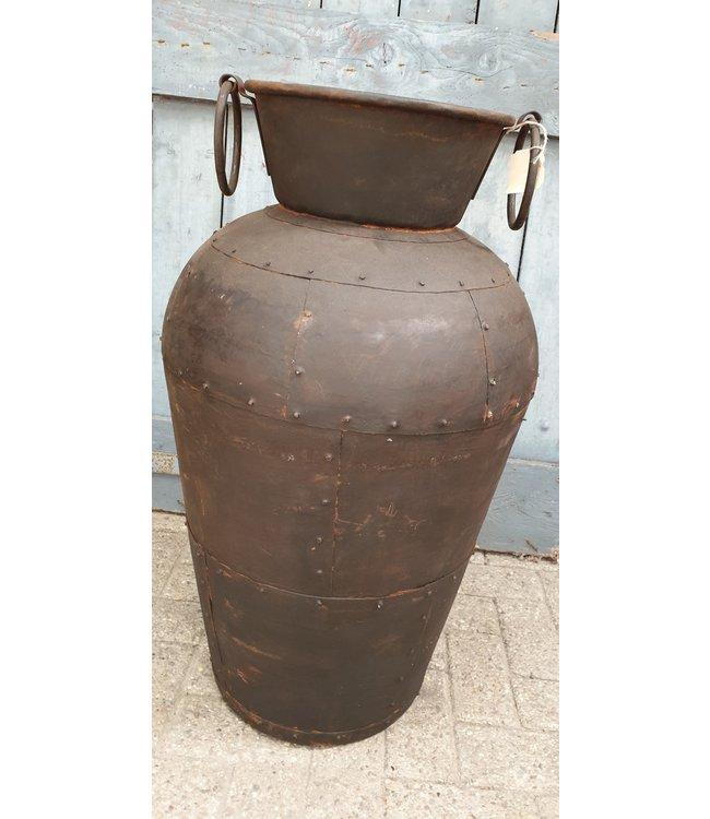 *Metalen vaas - M - 3 - 50 x 50 x 90 cm - wordt niet verzonden/alleen afhalen