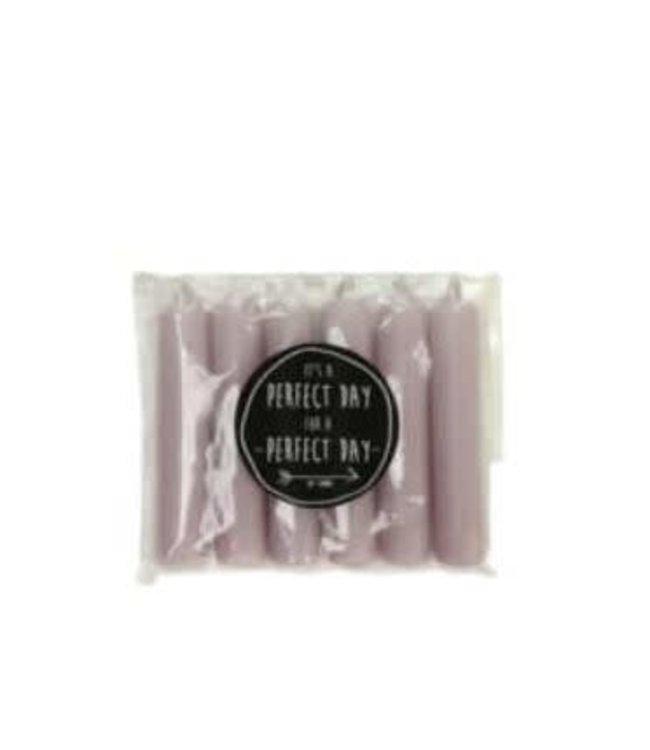 # Q153 - Pakje met 6 kaarsjes van 2,1 x 12 cm - Lavender