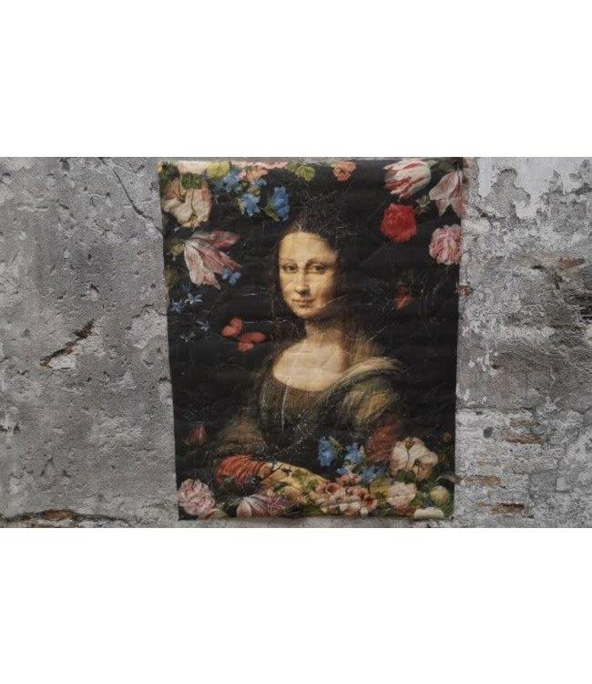 *J704 - Wandkleed - Mona Lisa - 80 x 100 cm