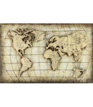 NT!! *A588 - Schilderij - Wereld - 120 x 80 x 2 cm