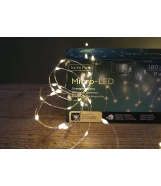 NT!!!! - I782 - 9 meter - 180 lamps - zilverdraad - warmwit licht - op stekker