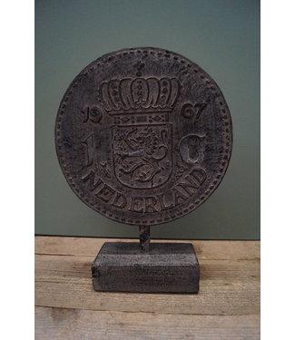 *Ornament gulden - polystone - 30 x 10 x 41 cm