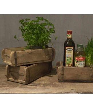 NT!!!  A662 - Oude houten baksteenmal - zonder stempel - ca. 29 x 15 x 9 cm (prijs is per stuk)