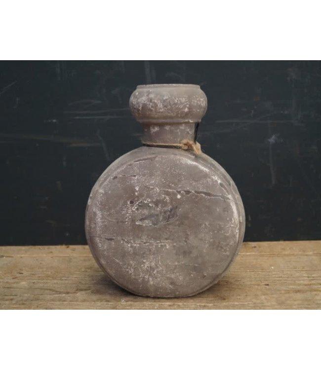 # A120 - Kandelaar - hout - (per stuk) cement finish - 15 x 7 x 20 cm