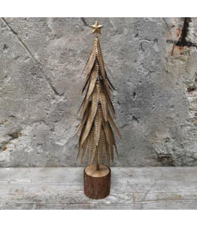 *Sagy boom goud - metaal - 45 cm