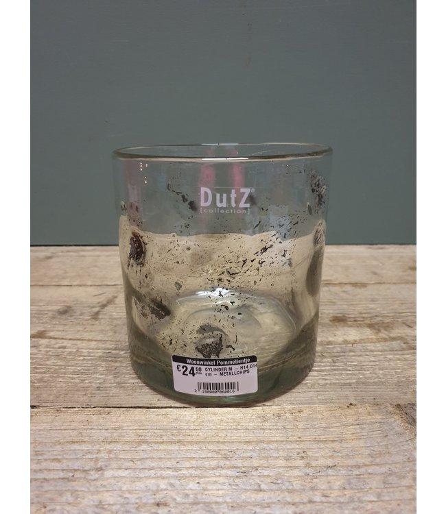 DUTZ # DUTZ - CYLINDER M - H14 D14 cm - METALLCHIPS