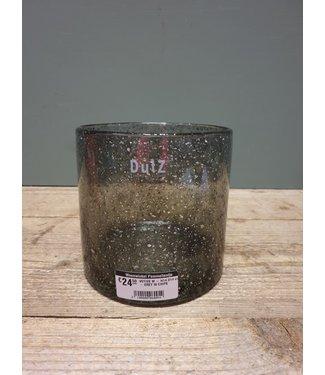 DUTZ DUTZ - VOTIVE M - H14 D14 cm - GREY W CHIPS