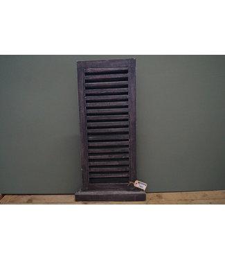 *louvreluik op voet - grijs - L - 40 x 8 x 75 cm
