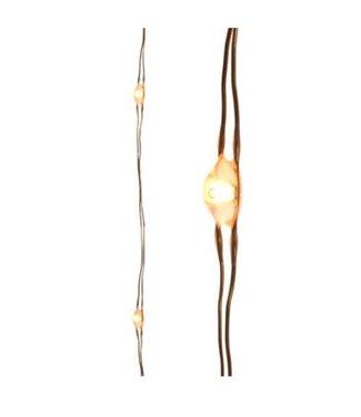 Micro Led verlichting buiten - 1200 cm - 240 lamps - koperdraad - klassiek warm