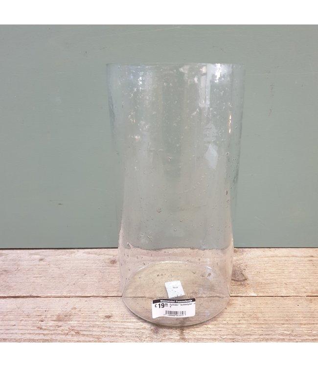 """# Cylinder """"bubbelglas"""" nr. 4 - 15 x 15 x 30 cm"""