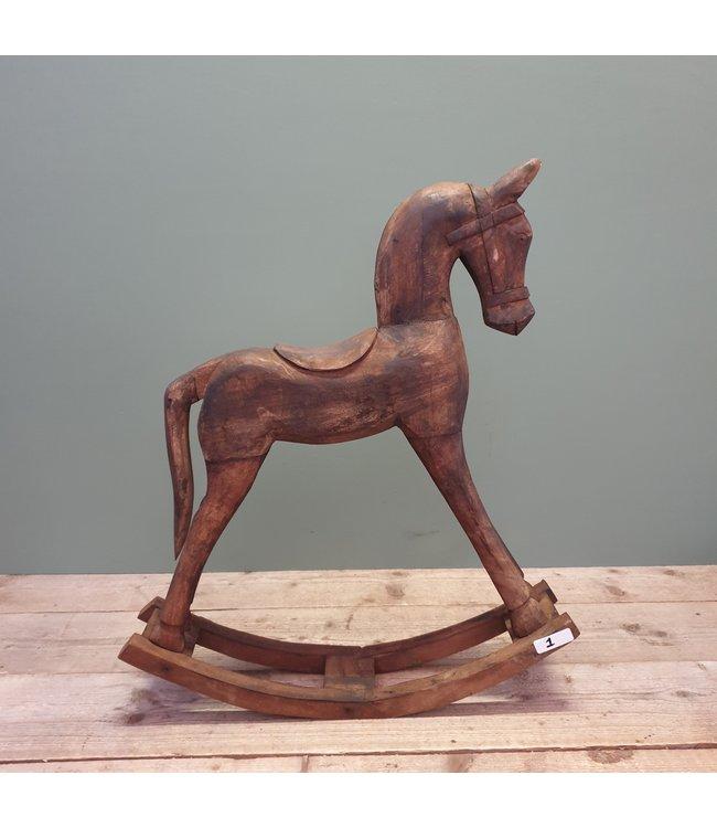 # Hobbelpaard - hout - groot - 1 - 60 x 14,5 x 73 cm