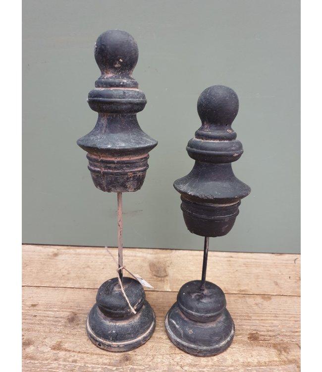 Brynxz # Brynxz - Set van 2 stenen deco - 9 x 31 cm en 9 x 35 cm