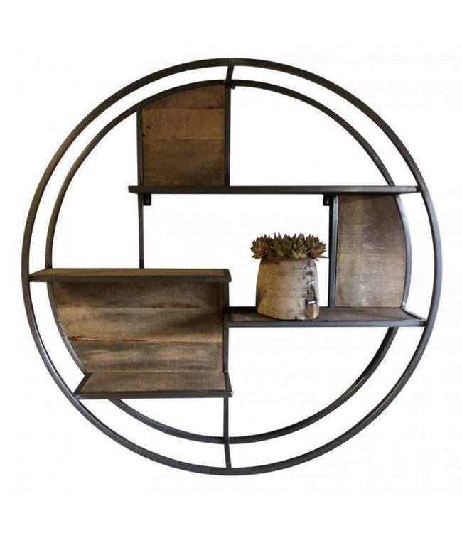 # I208 - Wallshelve round steel - 80 cm